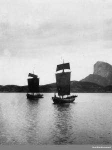 Jekter ved Rødøy, foto: Nordlandsmuseet